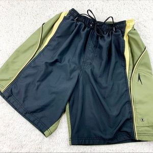 SPEEDO Olive Green Men's Swim Shorts | L